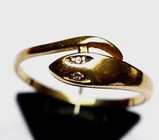 Damenring Schlangenring 8 Karat 333 Gold 1,48 g mit 2 Brillanten Diamant Gr. 55