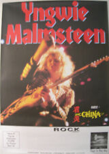 YNGWIE MALMSTEEN CONCERT TOUR POSTER 1990 ECLIPSE