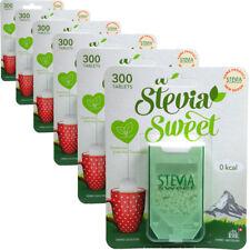 6x Hermesetas STEVIA sweet 300 comprimés calorie & glucides édulcorant gratuit