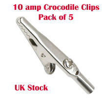 10amp, 5 x Clip coccodrillo per cavi di misurazione Coccodrillo Clip Batteria