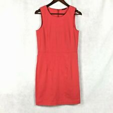 Womens Theory Solid Red Sleeveless Casual Sheath Cotton Rayon Spandex Dress 6