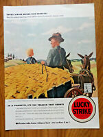 1942 Lucky Strike Cigarette Ad Wagon Load of Tobacco by Paul Sample Tobacco
