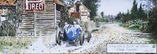 DENIS SIRE (1953-2019 Bagnolet) Affiche PIRELLI Le Mans 1921 voiture ancienne BD