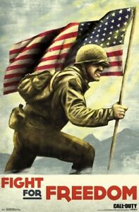 CALL OF DUTY - WORLD WAR 2 - FIGHT FOR FREEDOM POSTER - 22x34 VIDEO GAME 15838