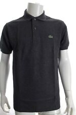 LACOSTE L1264 MEN GREY CLASSIC FIT POLO COTTON SHIRT SHORT SLEEVE SZ XL RRP £75