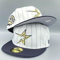 Astros 45th Anniversary 59FIFTY New Era Pinstripe Fitted Hat Cap Gray Bottom