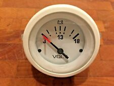 Teleflex Boat White Volt Gauge 31130 2 Inch Used Good Condition for Replacement!