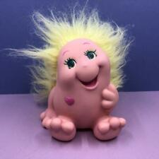 Vintage Snugglebumms Shyly Squeaking Pink & Lemon Toy Doll Figure 1980s 85