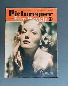 PICTUREGOER FILM WEEKLY Magazine April 6, 1940 ISA MIRANDA Cover