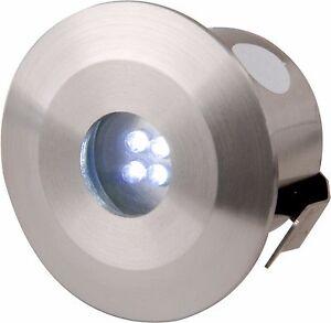 Knightsbridge IP44 Stainless Steel LED Outdoor Garden 4x Blue Deck Light Lights