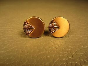 Vintage Classic Matte Finish Yellow Gold Plated Cuff Links
