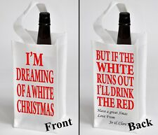 Personalised WINE BOTTLE TOTE Bag Funny Christmas Gift With Your Message