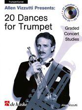 VIZZUTTI 20 DANCES FOR TRUMPET Book & CD*