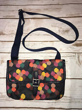 Fossil Key Per Mini Crossbody Messenger Colorful Dot Polka Navy Blue Purse Bag