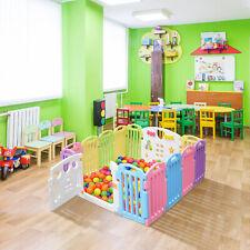 New 14 Panel Safety Play Center Yard Baby Playpen Kids Home Indoor Outdoor Pen