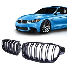 BMW F30 F31 M3 look gloss shiney black front kidney kidneys grilles double spoke