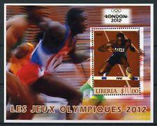 Liberia 2005 MNH London 2012 Summer Olympics 1v M/S Athletics Sports Stamps