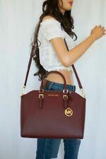 Michael Kors Ciara LG Tz Satchel Saffiano Leather Merlot 35H5SC6S3L