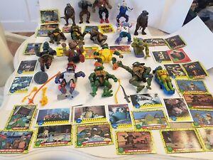 Huge Vintage Lot Tmnt Figures,weapons,trading Cards,more!