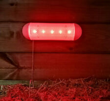 Chicken Poultry Solar Red Light for Coop House Night glow Hen Rooster Perch