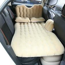 Car Inflatable Flocked Travel Mattress Air Bed Back Seat Sleep Rest Mat Camping