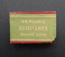 Boite plume ECOLIERES EXTRA pen nibs box Schreibfeder pennini