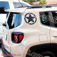 "Kit de vinilos adhesivos sticker ""Renegade Militar"" etrellas JEEP"
