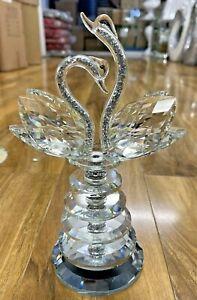 Diamond Crush Crystal SWAN Sparkly Silver Decoration