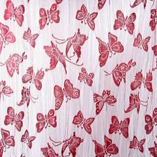 Rideau Voilage Chaîne Papillon Décor Fenêtre 200x100cm Vin Rouge