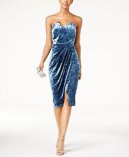 JAX $158 Womens Blue Slitted Sweetheart Neckline Sheath Dress 10 B+B