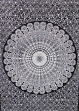 White Color Wall Hanging Cotton Peacock Mandala Tapestry Poster Table Cover Art
