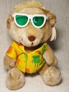 "Russ Lifes a Beach Love Pets Bear Plush Straw Hat Hawaiian Shirt Sunglasses 9"""