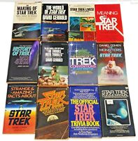 Early Star Trek Paperback Reference Book Collection- 13 Different- Your Choice