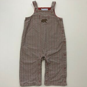 JANIE AND JACK The Best Bear Lined Overalls Size 3-6 Months EUC
