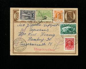 Zeppelin Sieger 85Eva 1930 Russia Flight Russia Post NO ROUTE MARKINGS RARE