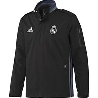 Adidas Real Madrid Voyage Veste HOMME Noir Football Hiver Chaud Coupe-Vent Liga
