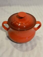 Le Creuset Red Mini Bean Pot with Lid, Stoneware