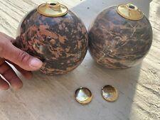 Rare anciennes et importantes boules d'escalier en marbre diamètre 15 poids 5kgs