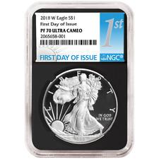 2018-W Proof $1 American Silver Eagle NGC PF70UC FDI First Label Retro Core