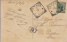 POMAJA- 5 c su cartolina per Pisa 5.10.(1911) - Manca l'anno sull'annullo