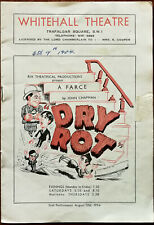 Dry Rot Ein Farce von John Chapman Vintage Whitehall Theater Programm 1954