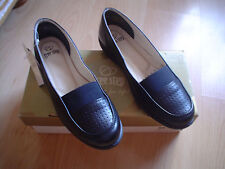 LADIES UK SIZE 3 FREESTEP BLACK  LOAFER SHOES EU SIZE 36 100% LEATHER