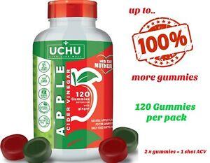 120 x 'Mother' Apple Cider Vinegar Gummies - Vegan ACV Gummy MEGA VALUE 2 MONTHS