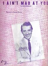 STAN KENTON 1947 Sheet Music I AIN'T MAD AT YOU Capitol Songs 40's BIG BAND