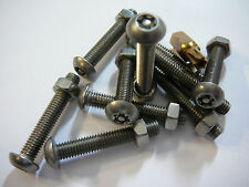 m5 X 30 STAINLESS STEEL BUTTON HEAD SECURITY MACHINE SCREW + NUTS+BIT 10 PACK