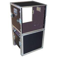 "Fantastic 10 Space 10U 18"" Deep Ata Rack - Stand w/Wheels - 1/4"" Ply Medium Duty"
