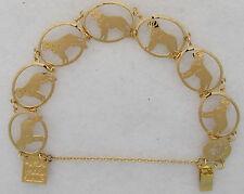 English Mastiff Jewelry Gold Bracelet