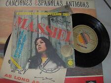 """7"""" MASSIEL LA LA LA  EUROFESTIVAL 1968 SPAIN COVER GOOD VINYL VG+EX"""