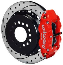 """WILWOOD DISC BRAKE KIT,REAR PARKING,GM/CHEVY,2.75"""",13"""" DRILLED ROTORS,RED CALIP."""