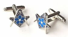 Masonic Flower in the Silver Crest Enamel Crested Cufflinks (N173) Gift Boxed